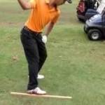 スライスを直す右足土踏まずにエッジを利かせた練習方法